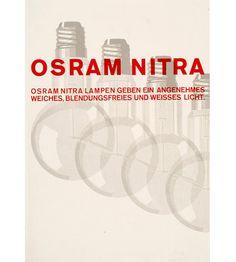 Walter Dexel, promotional sheet for the lightbulb manufacturer Osram Electric Light, Incandescent Light Bulb, Lightbulb, Creative Advertising, Graphic Design Typography, Vintage Designs, 2d, Cool Designs, German