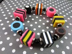 Licorice allsorts bracelet - oooohhhhhh