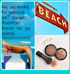 My, you're looking sun-kissed! That's Younique's Beachfront Bronzer talking. Half matte and half shimmer, this summery wonder gives you a golden glow. Made with Safflower, Ginseng, Aloe, and Ginkgo. Available in 3 Shades: Sunset, Hermosa, and Malibu.