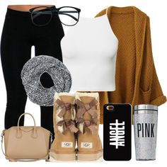 405. by tyra-bryant on Polyvore featuring Estradeur, UGG Australia, Givenchy and Victoria's Secret PINK