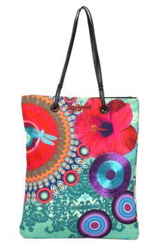 ac601699f Bolso Desigual Shopping Bag Carteras Desigual, Bolsos De Mujer, Bolsos De  Tela, Moda