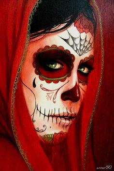 dia de los muertos... Day of the dead. This look would be perfect with Halloween makeup