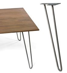 Hairpin Table Legs - metal legs for the kitchen table Hairpin Dining Table, Dining Table Legs, Kitchen Tables, Dining Area, Furniture Legs, Iron Furniture, Furniture Online, Mid Century Modern Furniture, Dining Room Design