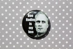 Boo Radley One Inch Pinback Button by ThereWillBeButtons on Etsy