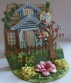 Work of art! ~ Jolanda's Crea-Blogg - Wouldn't this be cute decorated in quilling?!