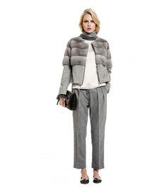 Natural Mink Fur and Cashmere Jacket