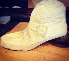 In the works.  Monk bootie for girlz.#brooklynbespoke #bootmaker #monkstrap#designprocess#intheworks