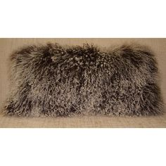 Mongolian Lamb 2 Tone Dark Brown Tibetan Lamb Fur Pillow New Made in... ($80) ❤ liked on Polyvore featuring home, home decor, throw pillows, black, decorative pillows, home & living, home décor, black home decor, black throw pillows and fur throw pillows