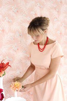 Colette Peony jurk met boothals
