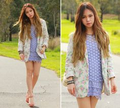 Spring in Melbourne! (by Chloe T) http://lookbook.nu/look/4070318-Fascue-Blazer-Zara-Heels-Sportsgirl-Dress