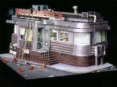 """MISS AMERICA DINER"" (2000) 13 x 17 1/2 x 18 1/4 inches - Alan Wolfson"