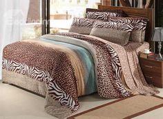 New Arrival 100% Cotton Thick Sanding Leopard Print 4 Piece Bedding Sets/Duvet Cover Sets