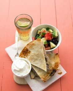 Steak Quesadillas (make the black bean salsa, it is amazing!) - Martha Stewart Recipes