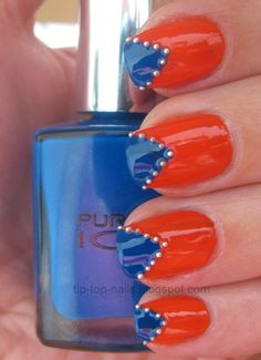 Fotos de uñas color naranja – 50 ejemplos | Orange Nails