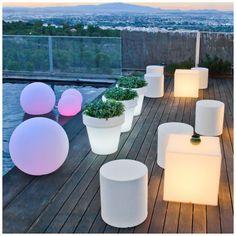 Mobiliario de luz para la decoración de terrazas, de Fiaka Ambient