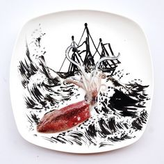 paintings made from food