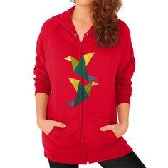 Cute Origami Zip Hoodie (on woman)