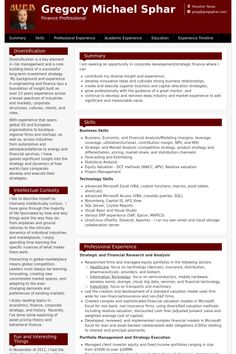 Resume For Financial Analyst Financial Analyst Resume Sample