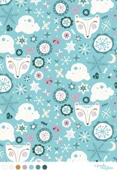 17 - Ice Bear#patternadaynov #whimsical #vintage #winter #pattern #aw13 #kids #polarbear #bear @paulamcgloin