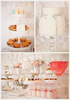 Some cute ideas here...   First Communion Party by Little Wish Cakes  |  TheCakeBlog.com