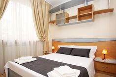 Better than hotels in Bucharest. Luxury short term apartment in Old Town. Serviced Apartments, Luxury Apartments, Holiday Accommodation, Bucharest, Old Town, Old Things, Hotels, Elegant, Bedroom