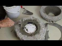 DIY,Blumenschale fü ERIKA herstellen,aus selbst gemachter Kugelform, - YouTube