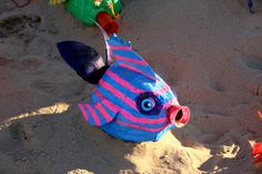 how to make sea creatures from recycled materials