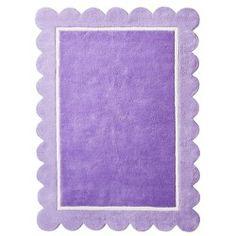 Circo® Scallop Rug - Purple : Target - rug we registered for Purple Bedrooms, Girls Bedroom, Girl Room, Bedroom Ideas, Baby Room, Target Rug, Purple Area Rugs, Nursery Rugs, Room Accessories