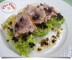 Solomillo de atún agridulce | Platos Plis PlasPlatos Plis Plas