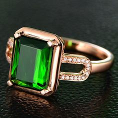 Nice This gorgeous ring has a stunning rectangular shaped watermelon tourmaline set in solid karat rose gold Sparkle and Shine Pinterest Watermelon