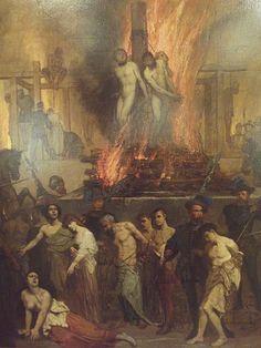 Auguste Glaize (1807-1893), Spectacle de la Folie Humaine - 1872 (détail)
