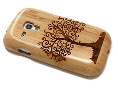 wooden Samsung Galaxy S3 Mini - wooden cases walnut / cherry or bamboo -  Tree