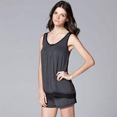 Women's Simply Vera Vera Wang Pajamas: Basic Luxury Pajama Set