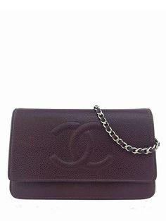 Chanel Timeless Wallet on Chain WOC Caviar Leather Crossbody Bag Burgundy