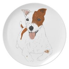 Jack Russell Terrier Party Plate http://www.zazzle.com/jack_russell_terrier_party_plate-115811373258795541