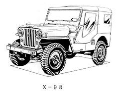 The For Jeep Coloring Book