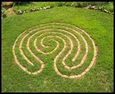 Add Magic Why not a labyrinth (or tree house or outdoor shower ... on simple labyrinth design, easy prayer labyrinth designs, outdoor labyrinth design,