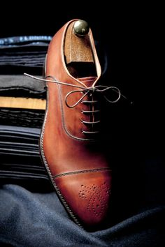Cap toe brown Oxford from Cheaney.