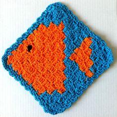 Fish dishcloth