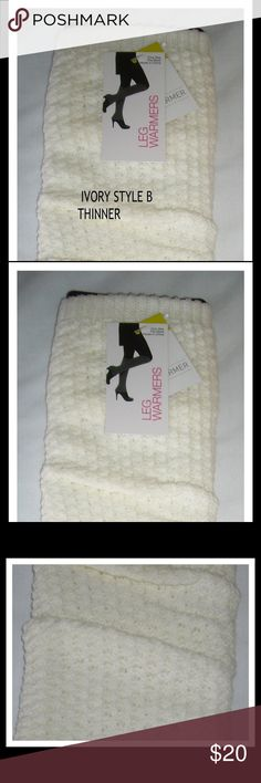 👢Leg Warmers by Capellini of New York Sweater knit leg Warmers in a beautiful Ivory color (off white) Style B which is thinner.OSFM designed to fit from the ankle to the knee. Wear with skirts, or under long pants. Great under loosefitting boots also. Keep your legs toasty in the cold weather. Great for any occasion. Why not bundle more than one pair to save on shipping.NWOT Capelli of New York Accessories Hosiery & Socks
