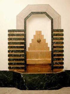 Fontaine le Musée du Clockarium, 1935,  l'architecte belge G. Bossuyt, Bruxelles, Belgique.