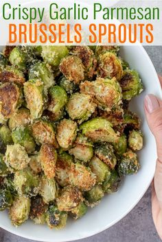 dinner side dishes Easy-to-make roasted brussels sprouts that will win anyone over. This recipe comes together in under 30 minutes and is FULL of amazing flavor Side Dishes Easy, Side Dish Recipes, Veggie Recipes Sides, Healthy Vegetable Recipes, Healthy Cooking Recipes, Make Ahead Healthy Meals, Soup Recipes, Clean Dinner Recipes, Vegetable Appetizers