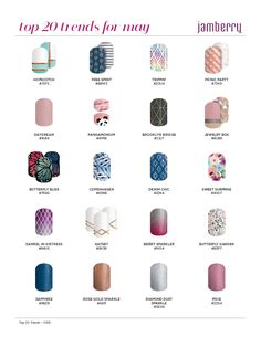 Which are you favorite top trend wraps??? #Jamberry #nailart #diynails #accessorizeyournails  #trending https://glamjamkh.jamberry.com/us/en/