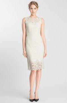 Dolce&Gabbana Sleeveless Tubino Lace Dress