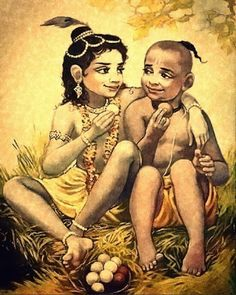 Those who have a friendship like Krishna Sudama they don't have need of and day to celebrate their Friendship. For them everyday is a friendship day, we loyal and respectable to your friends like Krishna who never do comparison between Arjuna who was a Pr Krishna Sudama, Krishna Leela, Cute Krishna, Radha Krishna Photo, Hanuman, Shree Krishna Wallpapers, Radha Krishna Wallpaper, Shiva Wallpaper, Krishna Drawing