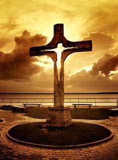Look through the cross and you can see the Sonshine...