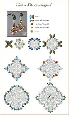 Configure not bracelet Beaded Earrings Patterns, Beading Patterns Free, Seed Bead Patterns, Beading Tutorials, Free Pattern, Bead Jewellery, Seed Bead Jewelry, Super Duo Beads, Beading Techniques