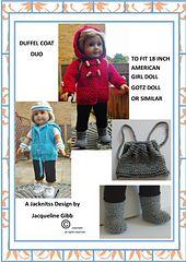 Ravelry: Duffel Coat Duo pattern by Jacqueline Gibb