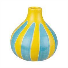 COYNES - Lime & Aqua Stripe Bud Vase