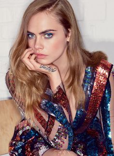 Born This Way - Personality has always been Delevingne's stock-in-trade. Rodarte sequin dress. Fashion Editor: Tonne Goodman